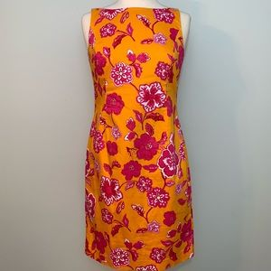 Jones New York orange/pink sheath dress
